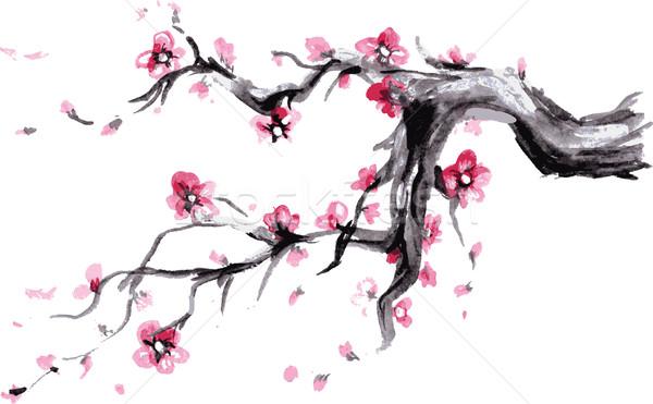 水彩画 春 日本語 シンボル ベクトル ストックフォト © naum