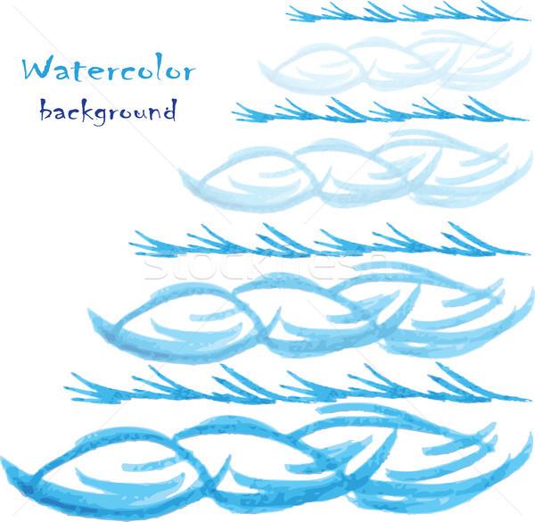 水彩画 ベクトル 手描き デザイン 抽象的な 紙 ストックフォト © naum