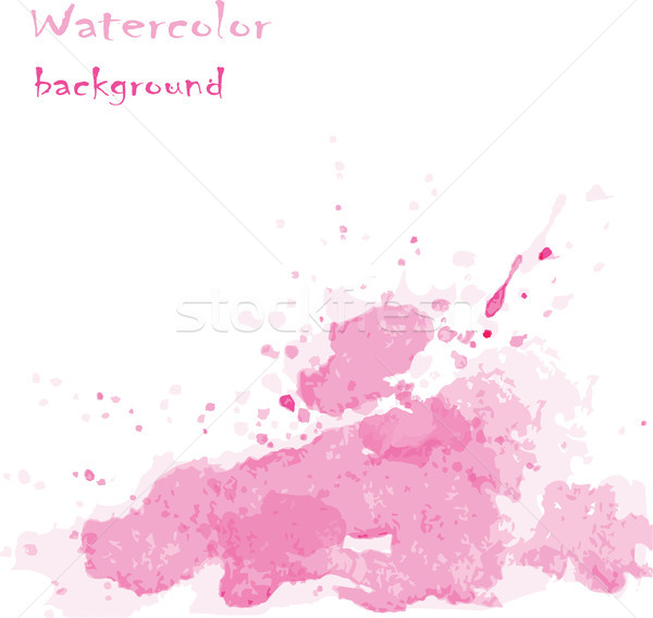 抽象的な ベクトル 描いた 手 水彩画 スタイル ストックフォト © naum