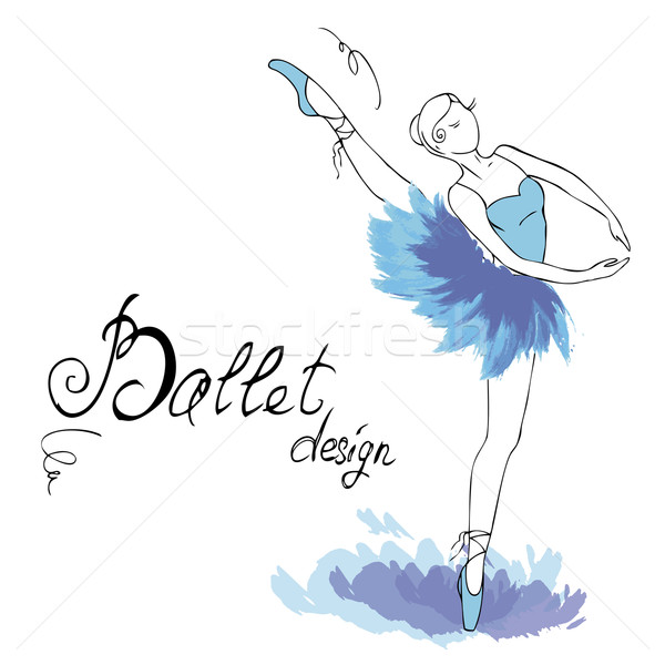 балерина рисунок акварель стиль музыку лице Сток-фото © naum