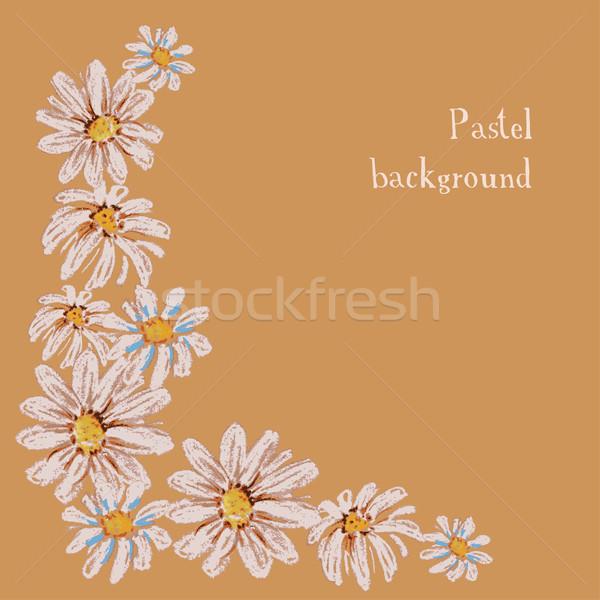 Kézzel készített rajz pasztell virágmintás virág víz Stock fotó © naum