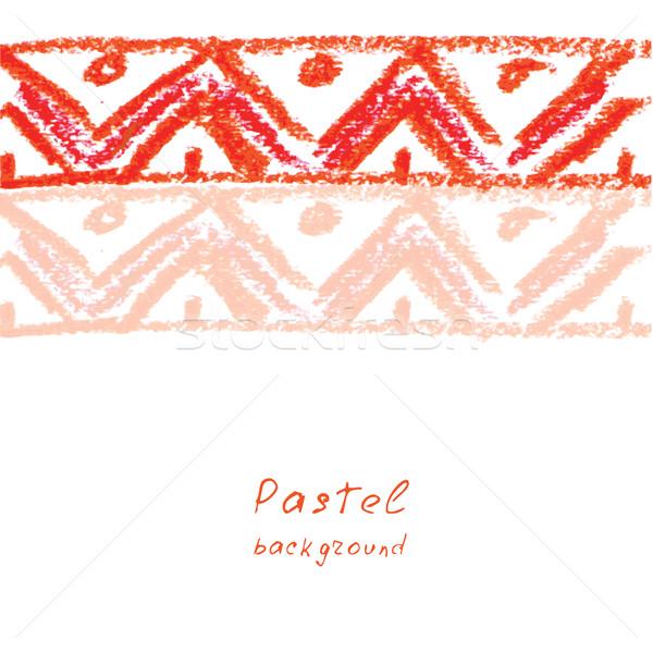 Foto stock: Hecho · a · mano · dibujo · pastel · textura · diseno · pintura