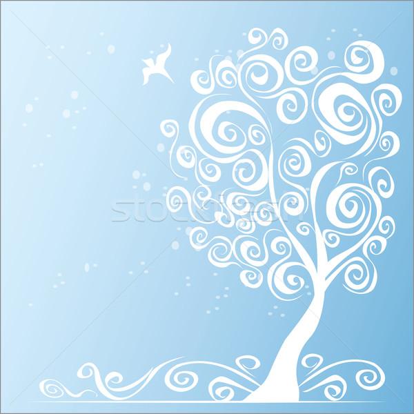 抽象的な ツリー 庭園 背景 グループ 秋 ストックフォト © naum