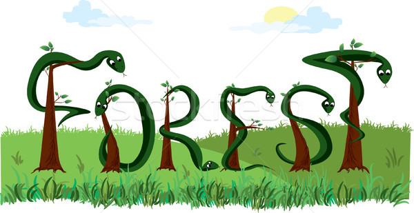 vector word forest Stock photo © naum