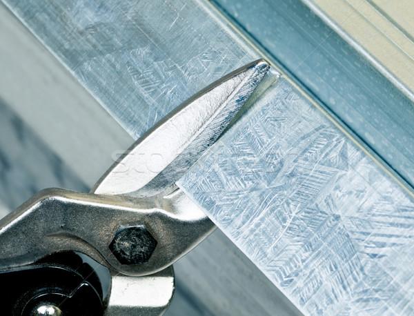 Metal stud cutting Stock photo © naumoid