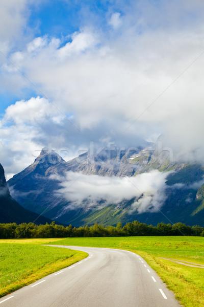 Empty mountain highway Stock photo © naumoid