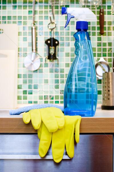Kitchen cleaning Stock photo © naumoid