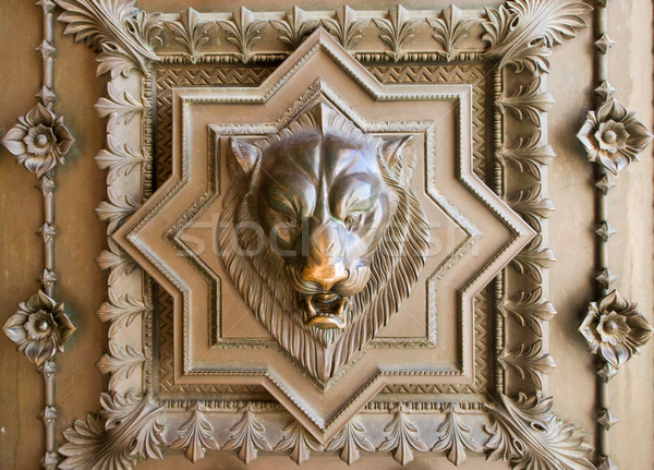 Lion head bas-relief Stock photo © naumoid