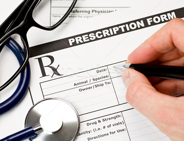 Veterinarian prescription form Stock photo © naumoid