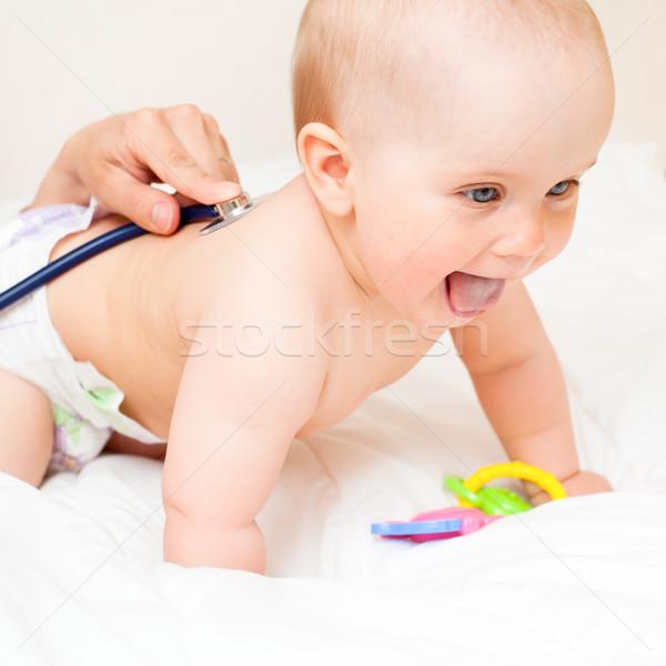 Medico esame esami piccolo stetoscopio Foto d'archivio © naumoid