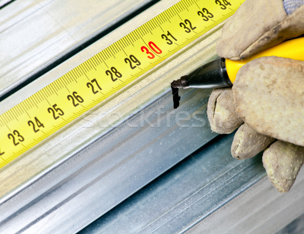 Steel stud measuring Stock photo © naumoid