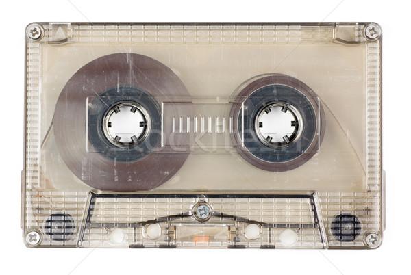 Audio szalag használt klasszikus átlátszó kompakt Stock fotó © naumoid