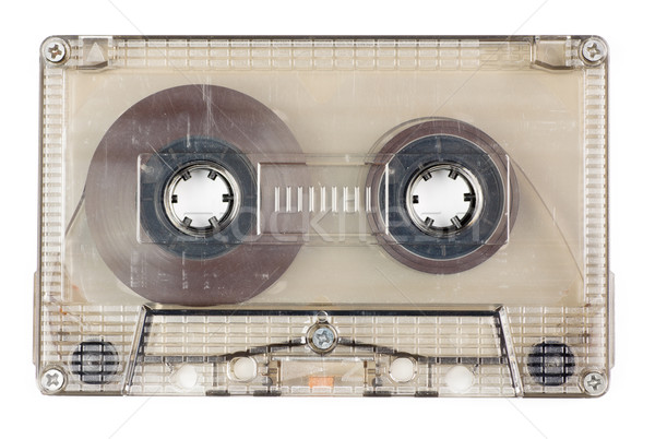 Audio tape gebruikt vintage transparant compact Stockfoto © naumoid
