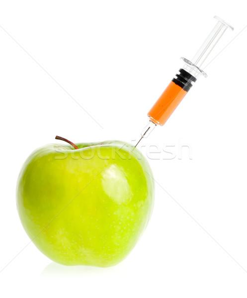 Maçã seringa genético modificação verde comida Foto stock © naumoid