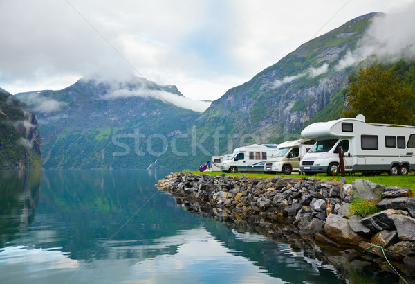 Camping by fjord Stock photo © naumoid