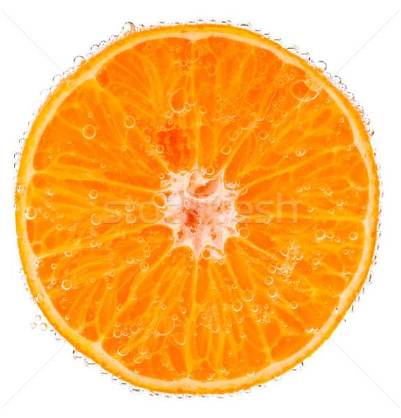 Pomarańczowy plasterka wody pęcherzyki żywności pomarańczowy żółty Zdjęcia stock © naumoid