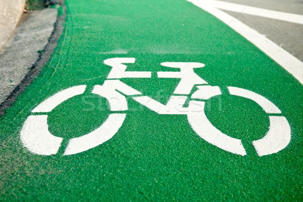 Bicycle lane Stock photo © naumoid