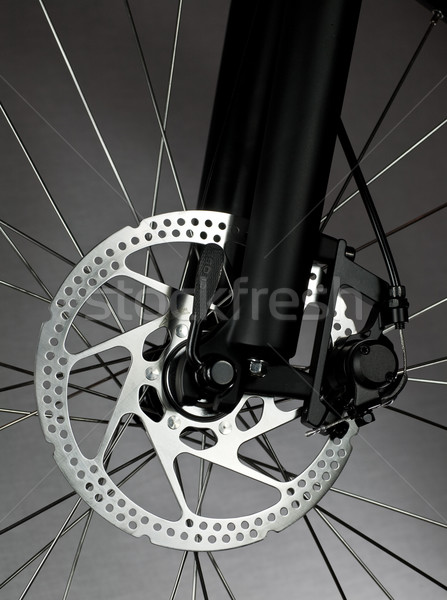 Bicicletta disco freno mountain bike fronte ruota Foto d'archivio © naumoid