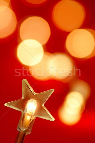 Christmas decoratie star licht lichten Stockfoto © naumoid