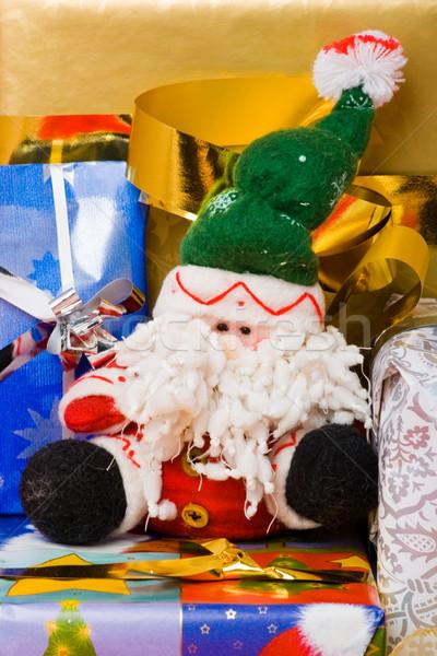 Fantoccio regali decorato nastri Foto d'archivio © naumoid