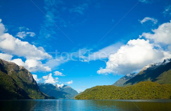 Tó felhők Új-Zéland víz természet hegy Stock fotó © naumoid