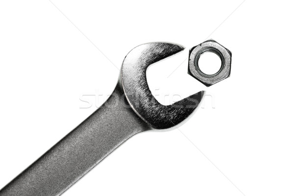 Wrench with nut Stock photo © naumoid