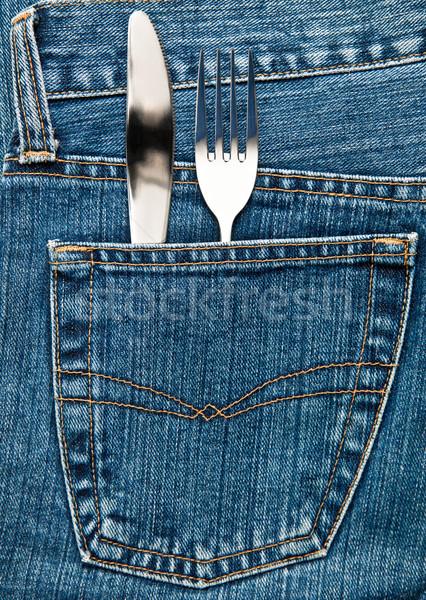 Flatware in a pocket Stock photo © naumoid