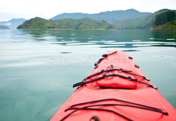 Red touring kayak Stock photo © naumoid