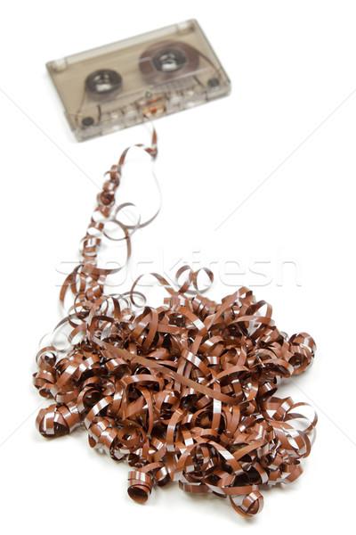 Messed up audio tape Stock photo © naumoid
