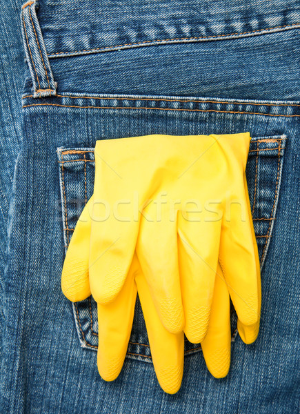 Stock photo: Gloves in a pocket