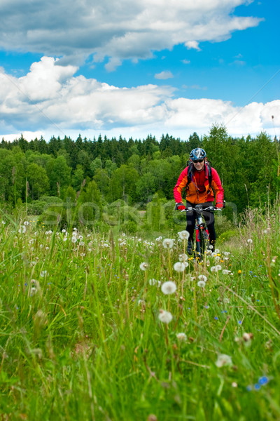 Cross-country biker Stock photo © naumoid