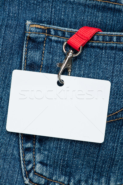 Blank badge in a pocket Stock photo © naumoid