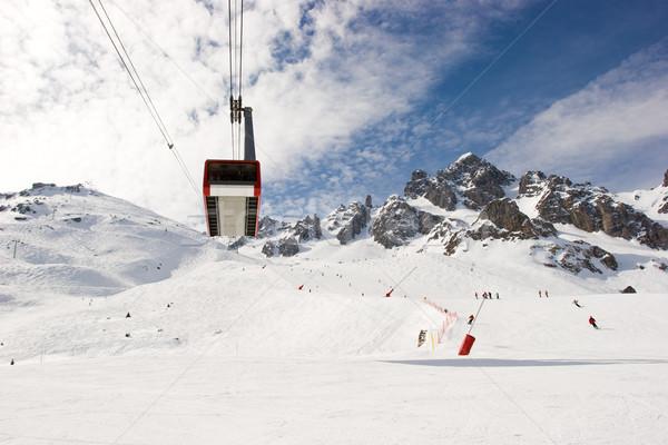 Aerial tramway at ski resort Stock photo © naumoid