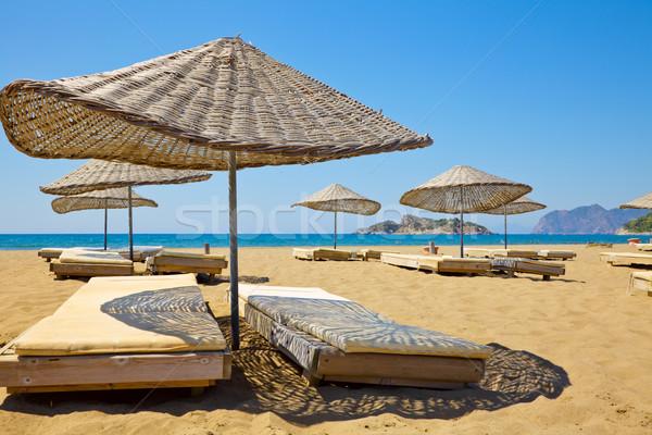 Güneşli plaj güneş Türkiye doğa deniz Stok fotoğraf © naumoid