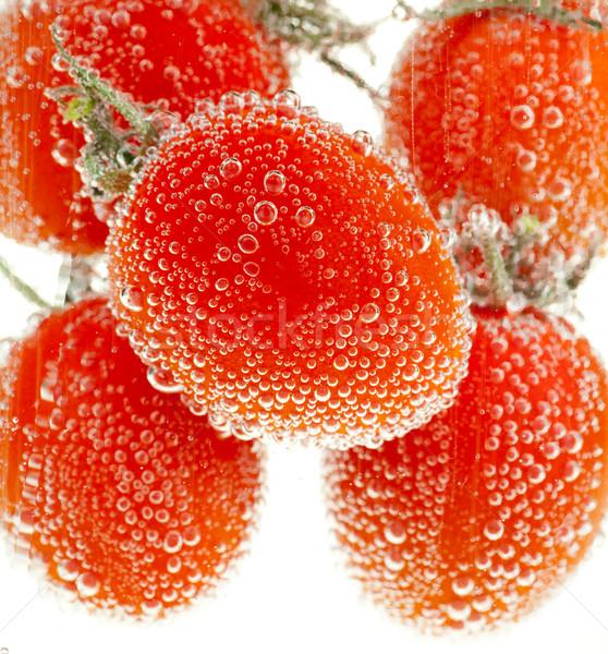 Kiraz domates su kabarcıklar gıda sebze tatlı Stok fotoğraf © naumoid