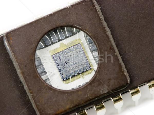 マイクロチップ メモリ 透明な ウィンドウ 統合された ストックフォト © naumoid