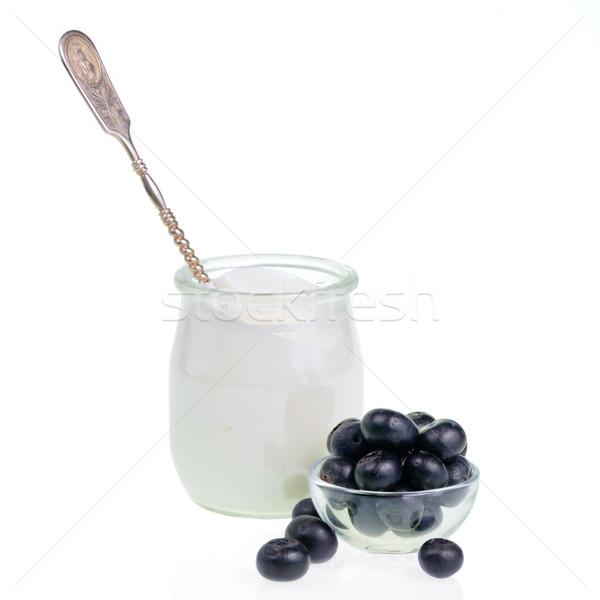 Yogurt and Blueberries Stock photo © naumoid