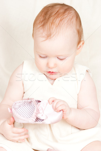 Infant with shoe Stock photo © naumoid