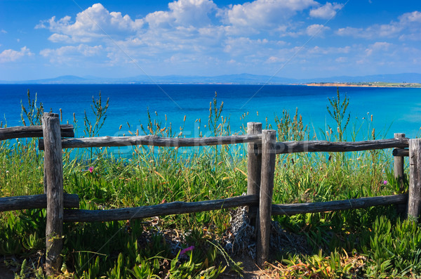 Wooden cliff fence  Stock photo © naumoid