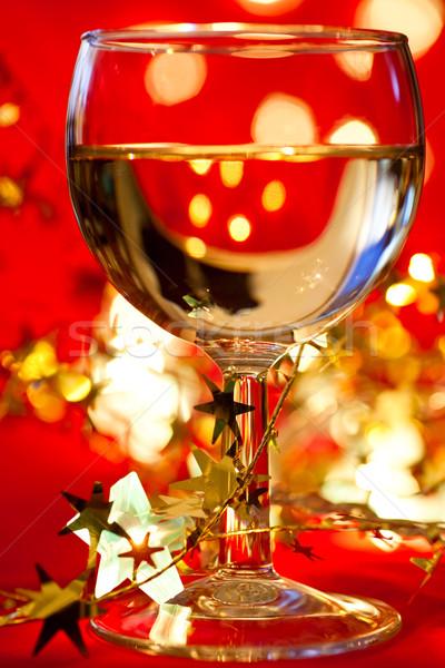 Décoration verre vin blanc star Photo stock © naumoid