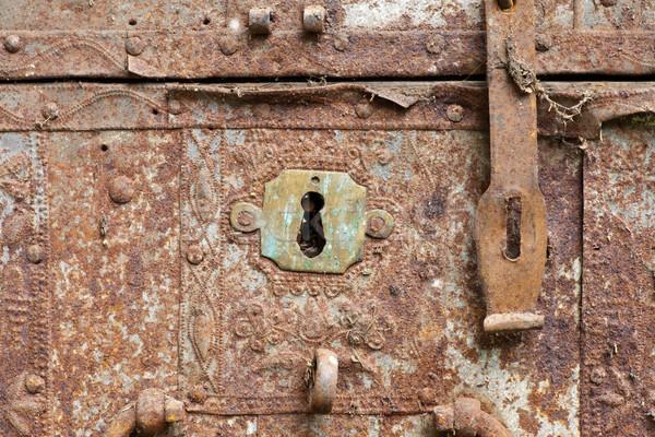 古い さびた 前方後円墳 フロント 胸 ストックフォト © naumoid