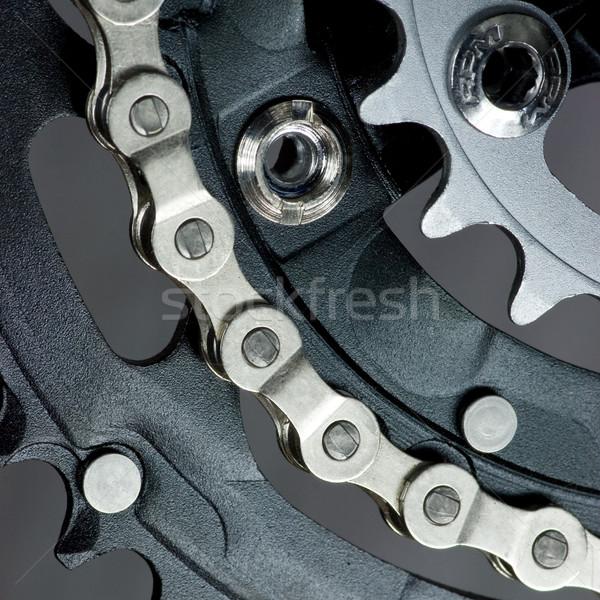 MTB crankset with  chain Stock photo © naumoid