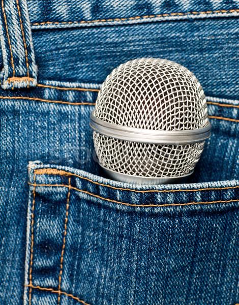 Microphone in a pocket Stock photo © naumoid