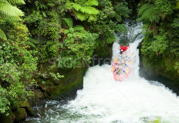 White water rafting Stock photo © naumoid