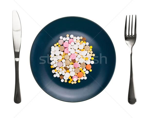 Dish with pills Stock photo © naumoid