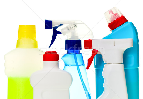 Takarítás takarítószerek csetepaté fehér ház otthon Stock fotó © naumoid