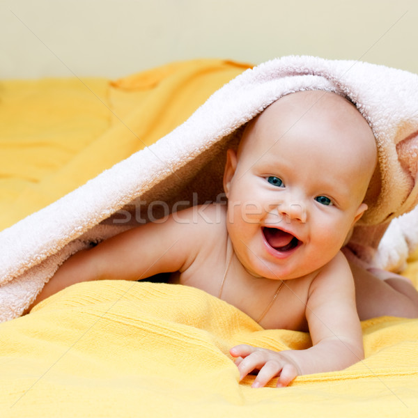 Happy infant Stock photo © naumoid