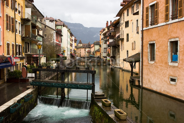 Canal at Annecy town Stock photo © naumoid