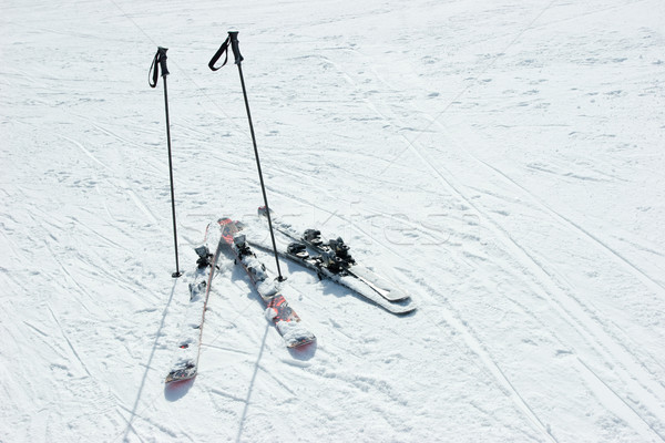 Skis and poles Stock photo © naumoid