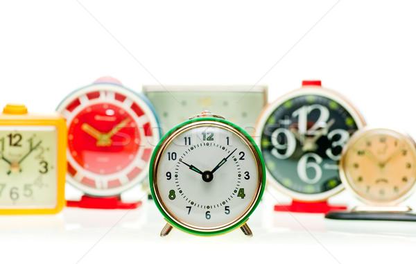çalar saat ayarlamak bağbozumu mekanik Alarm saatler Stok fotoğraf © naumoid